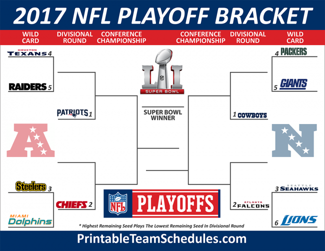 NFL 2017 Playoff Picture