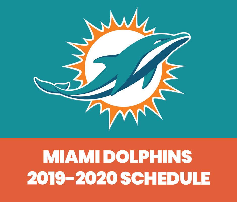 picture regarding Miami Dolphins Printable Schedule identified as Miami Dolphins Timetable 2019 - Fins4Life™